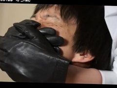 Mistress in Leather Gloves Smother