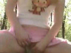 Amateur - Blond Big Naturals Selfie Outdoor Pee