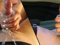 Perfect Handjob and edging Fleshlight cumshot (Amateur handjob by OhMaria)