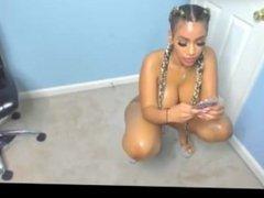 Big booty girl twerking and teasing