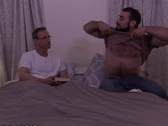 Old Mature Man Has Sex With Young Hairy Muscle Daddy