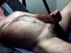 Hairy daddy bear on cam