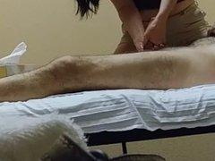 Hidden camera massage happy ending