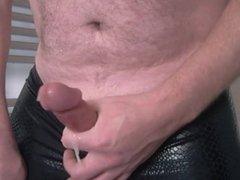 CD - Black wetlook Lycra Leggings