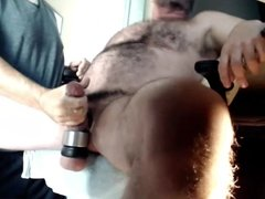 dad gets a handjob from his friend