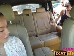 FemaleFakeTaxi Brunette cabbie fucked doggy style