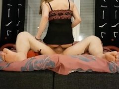 Julia X playing with a dildo after daddy gives me a creampie