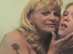 Pat & Denise - Lesbian Long Tongue & Wet Kissing