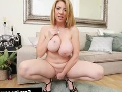 Hot Milf Sara Jay sticks her fingers in her pussy & squirts!