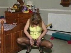 british stocking tease