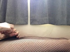 Teasing in my fishnet tights (first vid)