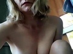 Cam girl in tights pegs her nipples