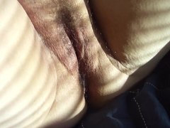 Close up dildo in wifes sloppy pussy