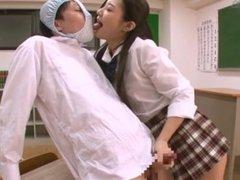 Japanese girl kisses through panties D (ARM-457 4/5)