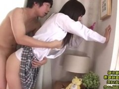School girl don't care about sex. Her BF fuck her in the process.
