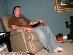 Ebony amateur munching on white cock and balls