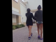 candid voyeur teen with nicest legs in shorts