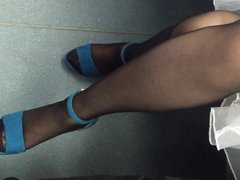 pantyhose leg on metro