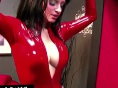 Femdom Queen RubberDoll Fucked By Boxed Doll Nicci Tristan!
