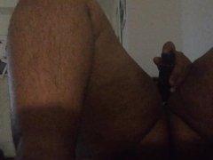 My big clit orgasm with dildo