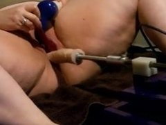 BBW Screams and Squirts with Fucking Machine