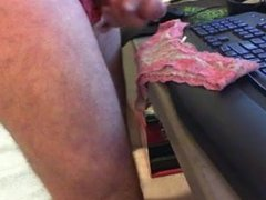 Wank into wife's panty's