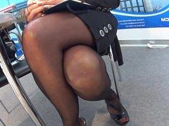 Sexy Legs & Feet In Black Stockings