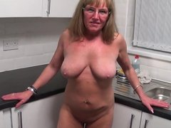 Full Back Knicker's Naked in the Kitchen