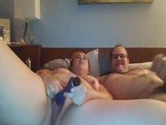 Chubby couple get brave and try first cam