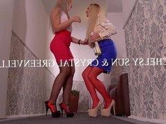 Lesbian Scissor Sisters Briana Bounce & Lara Onyx Suck Their