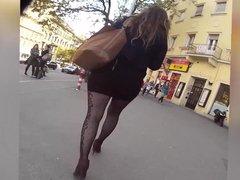 pantyhose with tight mini