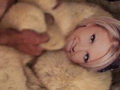 Playing with Aubrey Addams in fur