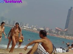 Nudist Amateur Voyeur Beach Close-Up Video