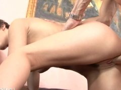 On her knees sucking and getting fucked after.mp4