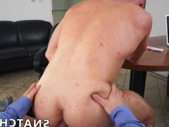 POV anal ass destruction with a hot young office stud