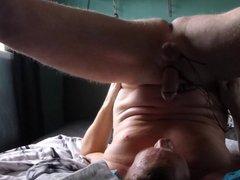 Self facial handsfree e-stim electrostim orgasm swallow HFO