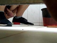 spycam toilet jerk off and cum 1