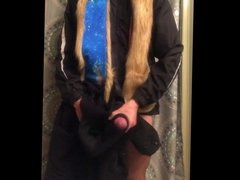 Gay furry teen cums in fleece jacket and Spirithood