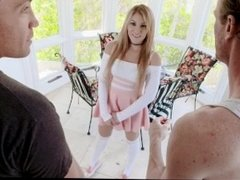 ExxxtraSmall - Petite Slut Stretched By Two Cocks At Once