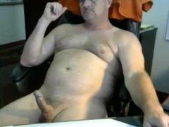 Dad loves to cum on cam