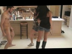 Brat princesses tag team ballbusting