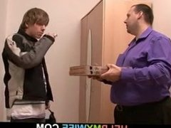 Delivery-guy agrees to fuck his young wife
