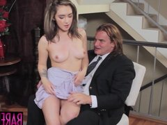 Kinky minx Lily Jordan nailed by mature facial giving cock