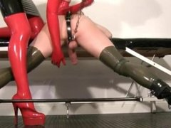 My slave femdom video - Milking my rubber slut