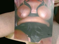 Tribute for BULLCOCK1234 - busty slut gets cum on her tits