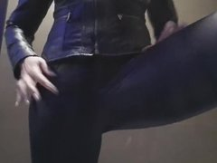 leather pants show fart and pee