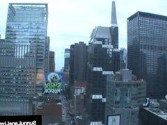 Blonde Babe Sunny Lane Uses Tongue Vibrator In New York City