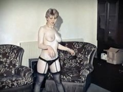 DON'T LEAVE ME THIS WAY - British teen strip dance stockings