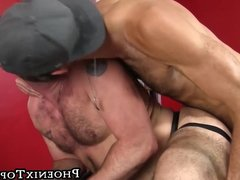 Cock craving bear riding on a big raw one until creaming