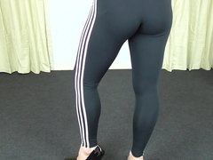 Tight Leggings on Shemale